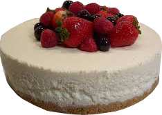 Tarta de mousse con frambuesas, fresas y arandanos Arte&SANO