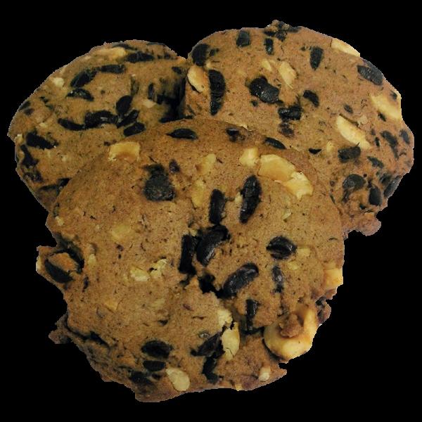 galleta galleta artesana de centeno avellanas y chocolate