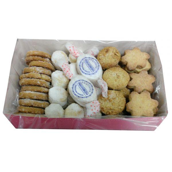 caja surtido de pastas y mantecados navideños 1.000-1.200gr