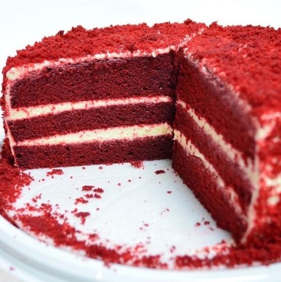 Tarta Red velvet Arte&Sano